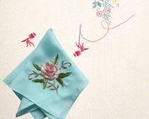 刺绣花朵展示PSD素材