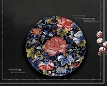 刺绣背景艺术PSD素材