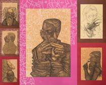 藝術人物繪畫像攝影高清圖片