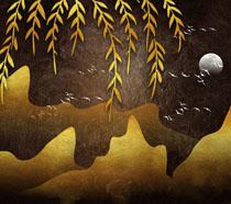 柳树艺术绘画风景时时彩投注平台