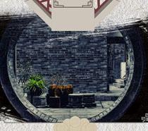 古典风建筑绘画PSD素材