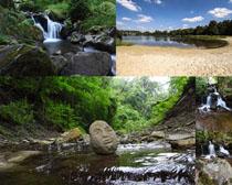 自然风景瀑布风光摄影高清图片