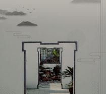古典风艺术封面PSD素材