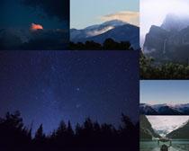 森林山峰風景攝影高清圖片