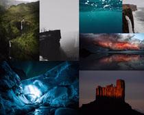 奇觀山峰森林攝影高清圖片