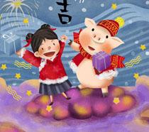 猪年大吉卡通插画时时彩投注平台