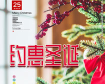 约惠圣诞海报PSD素材