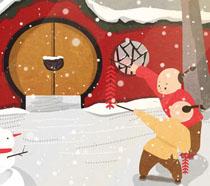 冬季大过年插画时时彩投注平台