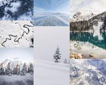 漂亮的雪景風光攝影高清圖片