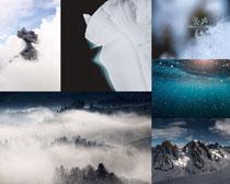雪景奇觀風光攝影高清圖片