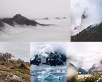 山峰仙境風光攝影高清圖片