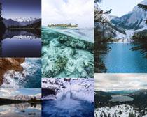 雪景風光拍攝高清圖片