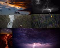 雷雨風天氣風景攝影高清圖片