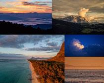 夕陽風光大海攝影高清圖片