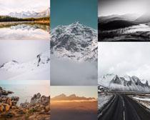 山川雪景風光拍攝高清圖片