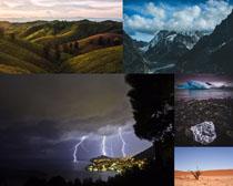 夜色山峰風景攝影高清圖片