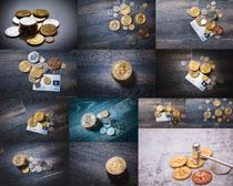 比特币货币金融拍摄高清图片