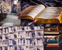 書架展示攝影高清圖片