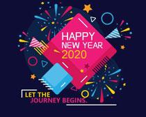 2020新年快樂元素矢量素材