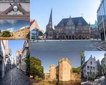 外國小鎮建筑攝影高清圖片