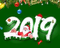 2019年圣诞节海报设计矢量素材