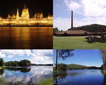 國外湖水建筑攝影高清圖片