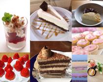 甜品食物蛋糕水果攝影高清圖片