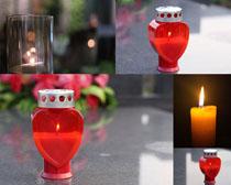 精致的蜡烛摄影高清图片
