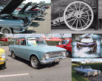 老式汽車交通工具攝影高清圖片