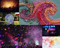 彩色艺术背景画拍摄高清图片