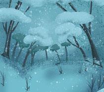 卡通树木风景PSD素材
