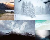 雪景云雾风光摄影高清图片
