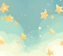 天空星星绘画PSD素材