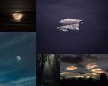 夜色月亮美丽风光摄影高清图片