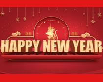 鼠年新年快乐PSD素材