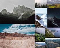 岩石山峰风景拍摄高清图片