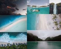 大海沙滩风光摄影高清图片