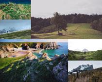 草原山峰自然景色摄影高清图片