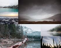 湖水风光景色拍摄高清图片