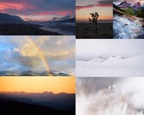 夕陽天空風景拍攝高清圖片