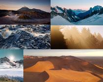 沙漠雪山风光拍摄高清图片