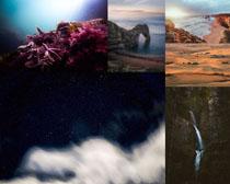 海洋瀑布风景拍摄高清图片