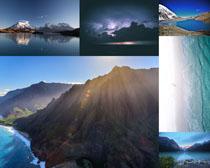 蓝天山水景色拍摄高清图片