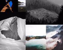 森林山峰云雾风景摄影高清图片