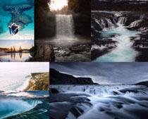 瀑布山水风光拍摄高清图片
