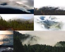 云雾山峰风景拍摄高清图片