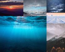 大海山峰天空摄影高清图片