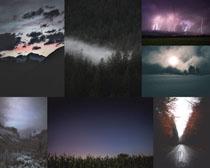 天空夜景風光拍攝高清圖片