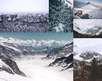 雪景山峰攝影高清圖片