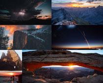 陽光山峰景觀拍攝高清圖片